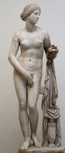 Panthea's hair, forehead, eyes, eyebrows and age might have been similar to Praxiteles' Cnidus Aphrodite.