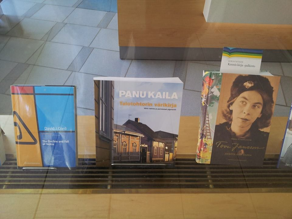 I was excited to see my Nokia book on display next to Tove Jansson so had to get a picture.