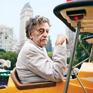Kurt Vonnegut in Rolling Stone. Photo by Peter Yang.