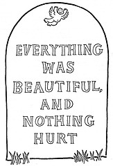 Vonnegut's famous tombstone from Slaughterhouse-Five.