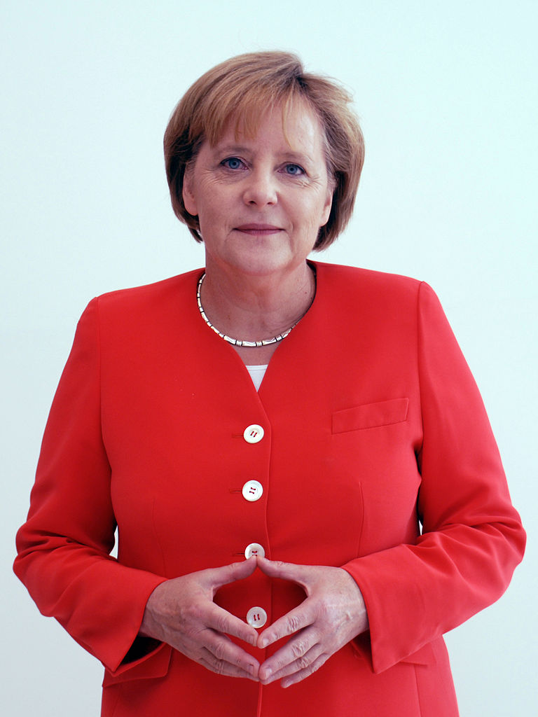 Angela Merkel's famous 'triangle of power' might be seen even more around the world.